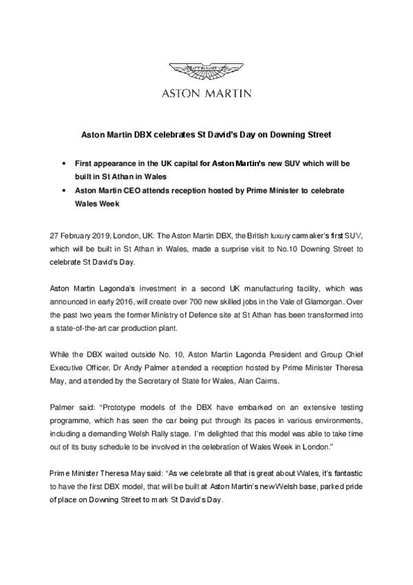 Aston Martin DBX celebrates St Davids Day on Downing Street-pdf