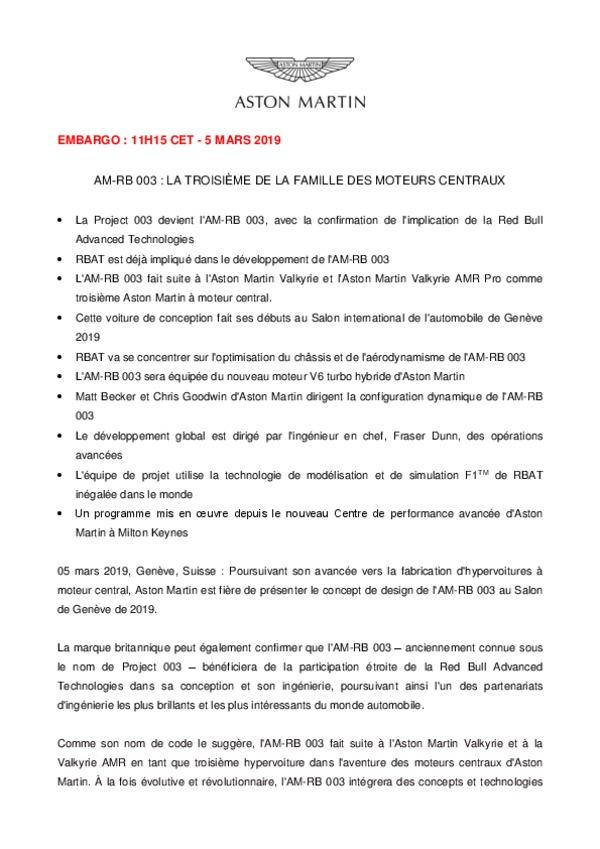 AM-RB 003 : LA TROISIÈME DE LA FAMILLE DES MOTEURS CENTRAUX