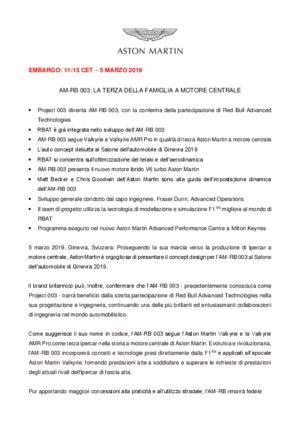 ITALIAN : AM-RB 003: LA TERZA DELLA FAMIGLIA A MOTORE CENTRALE