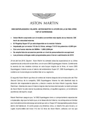 SPANISH - DBS SUPERLEGGERA VOLANTE: ASTON MARTIN VA ATOPE EN LA ULTIMA OPEN TOP GT EXPERIENCE-pdf