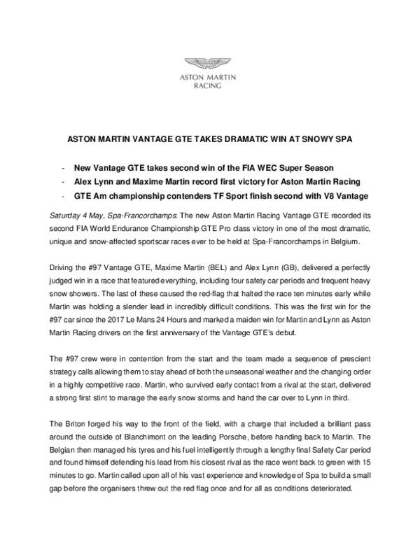 ASTON MARTIN VANTAGE GTE TAKES DRAMATIC WIN AT SNOWY SPA-pdf
