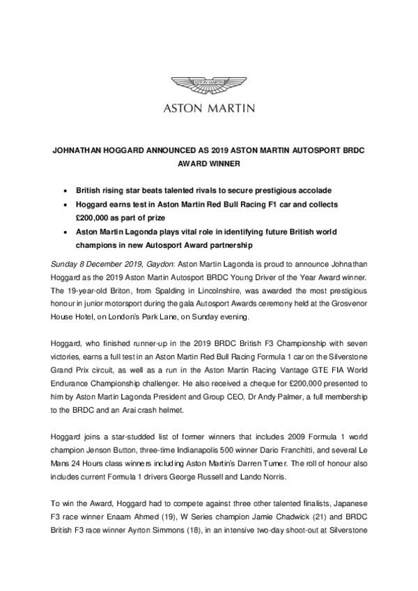 Aston Martin Autosport BRDC Award winner announced 002-pdf