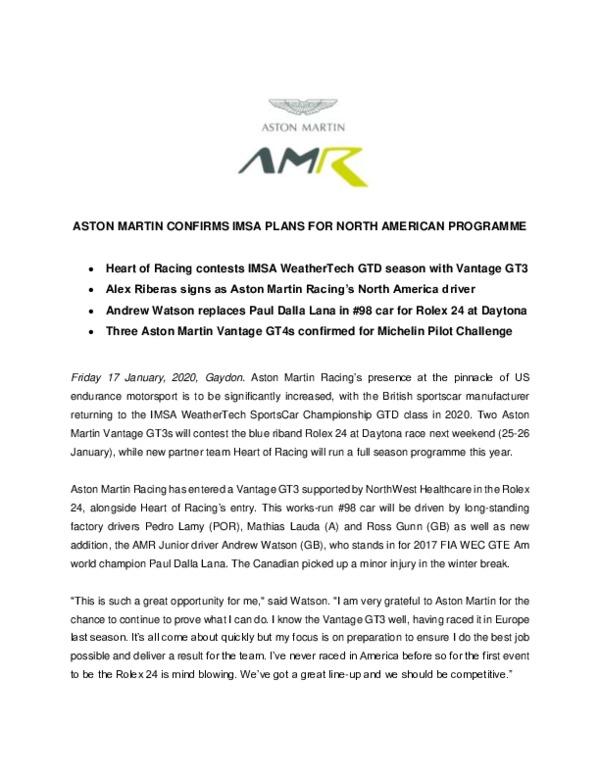 ASTON MARTIN CONFIRMS IMSA PLANS FOR NORTH AMERICAN PROGRAMME-pdf