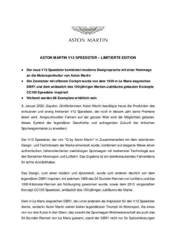ASTON MARTIN V12 SPEEDSTER  LIMITIERTE EDITION-pdf