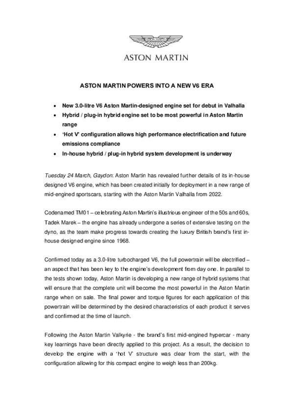 ASTON MARTIN POWERS INTO A NEW V6 ERA-pdf