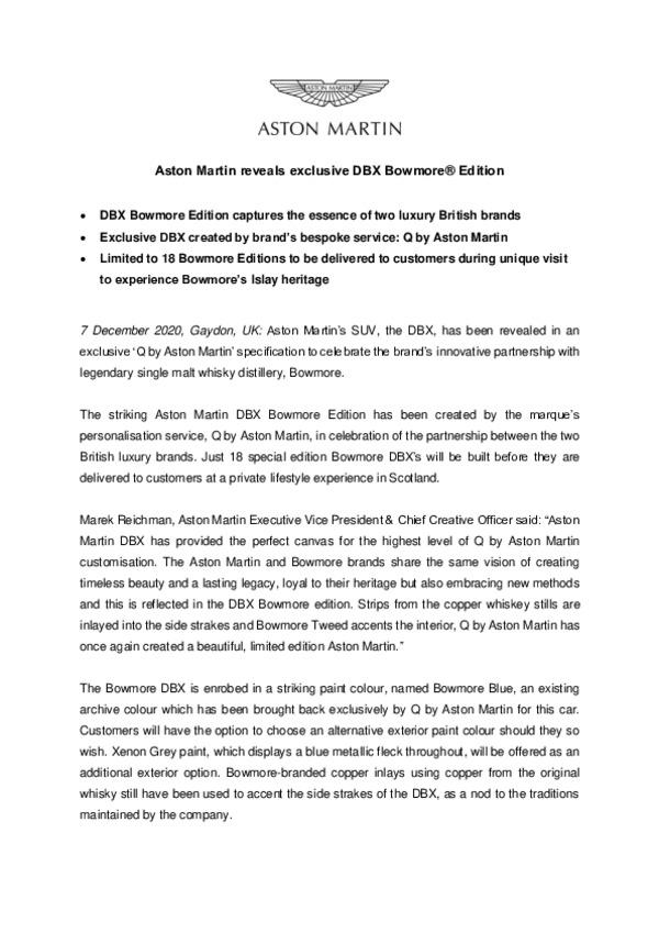 Aston Martin reveals exclusive DBX Bowmore Edition-pdf